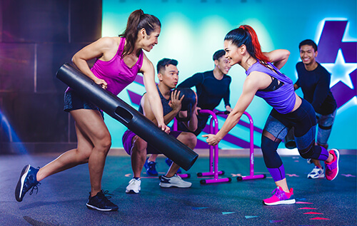 dual access membership celebrity fitness playground class