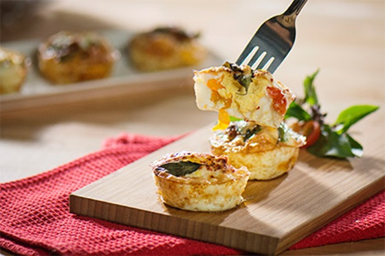 Thai basil egg muffin